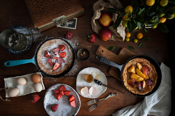 Batter pudding, a Dutch baby and the scent of a ripening nectarine